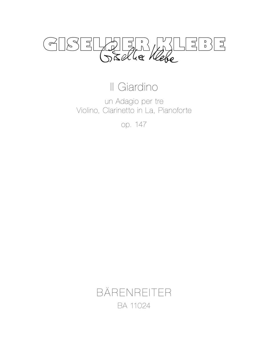 Il Giardino Op.147 -un Adagio per tre Violino, Clarinetto in