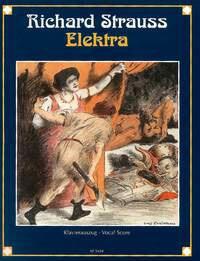 Elektra op. 58. Voz y piano. Strauss. Alemán