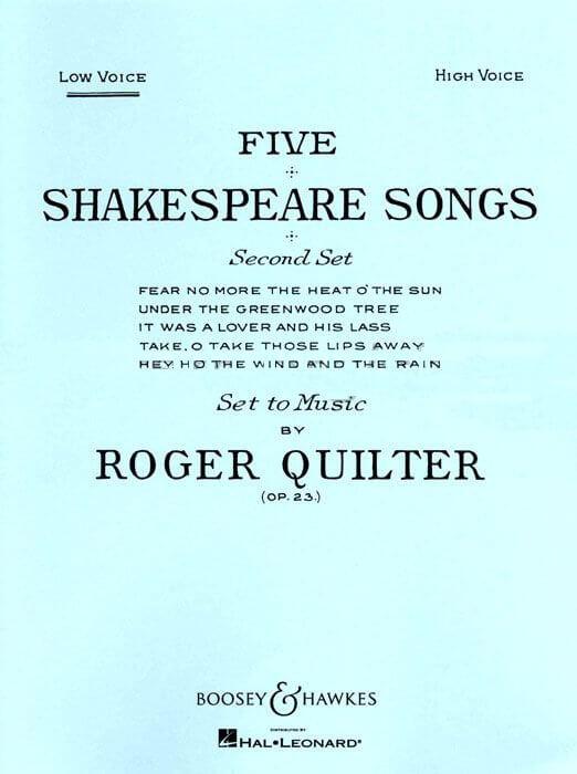 5 Shakespeare Songs op. 23