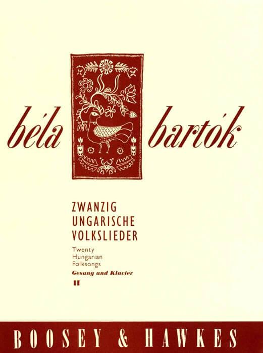 20 Hungarian Folksongs Vol. 2. Tanzlieder. Voz media-piano.