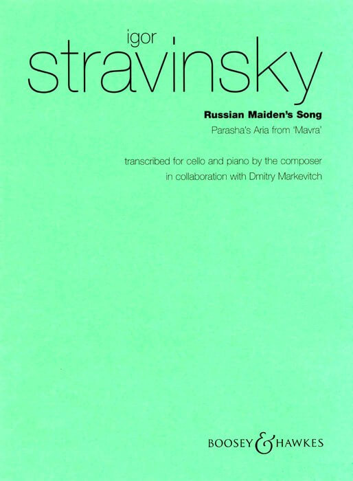 Russian Maiden's Song. Violoncello-piano. Stravinsky.