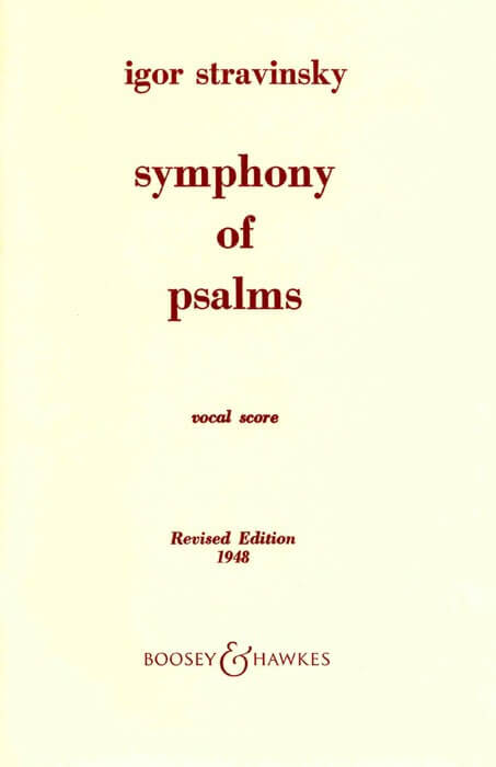 Symphonie Of Psalms (Revised edition 1948)