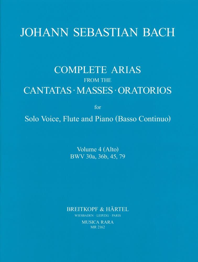 Sämtliche Arien Vol. 4 Alto,Flute,Bc.