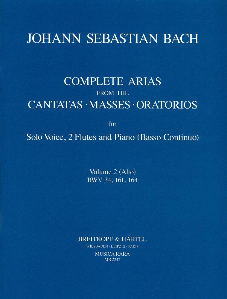 Compl. Arias (Voc,2 Fl) Vol.2. BWV 34,161,164 Alto