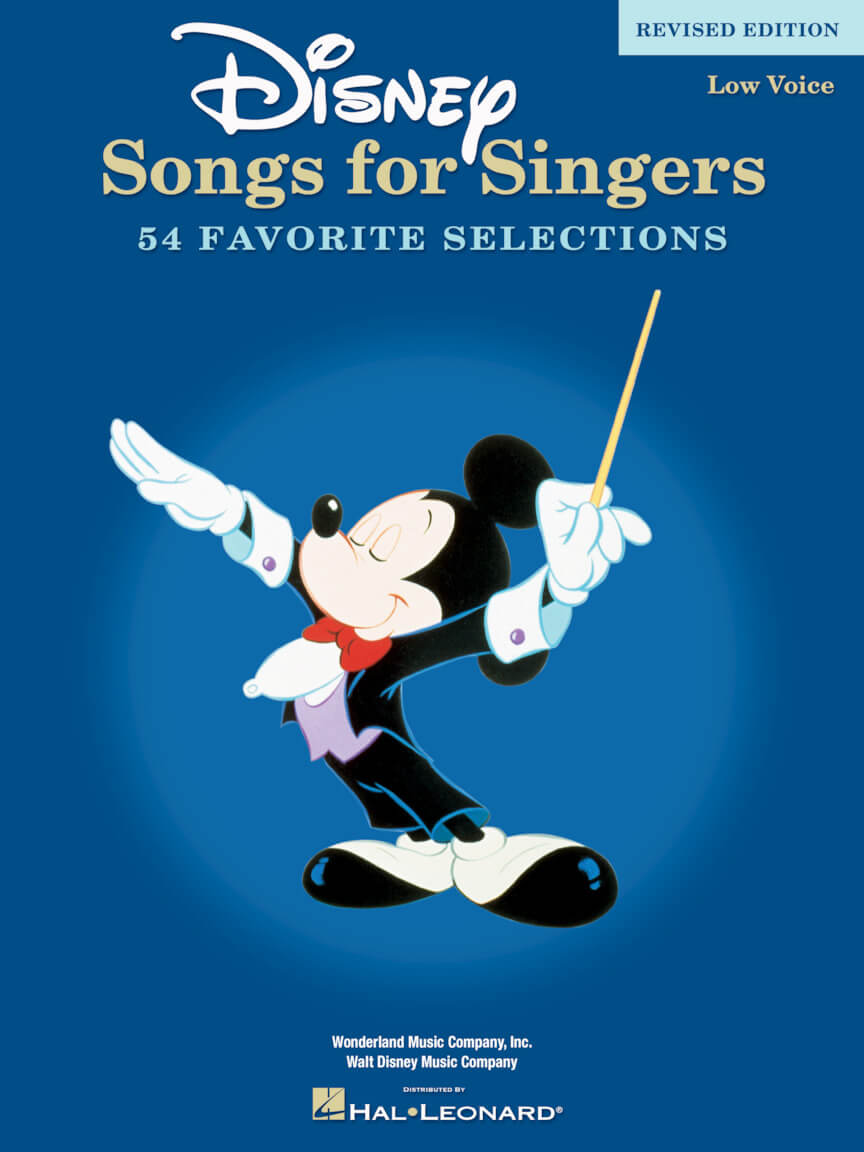 Disney Songs For Singers. Low Voice - Revised Edition