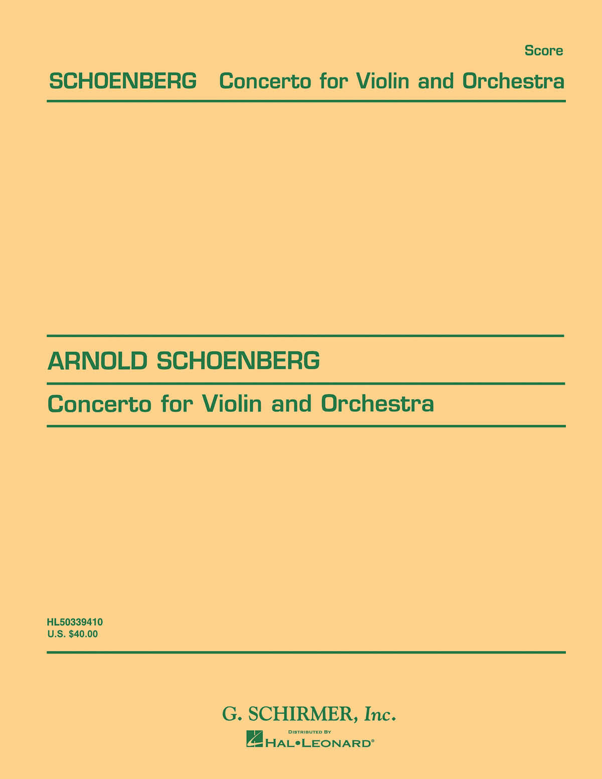 Concerto for Violin and Orchestra, Op. 36
