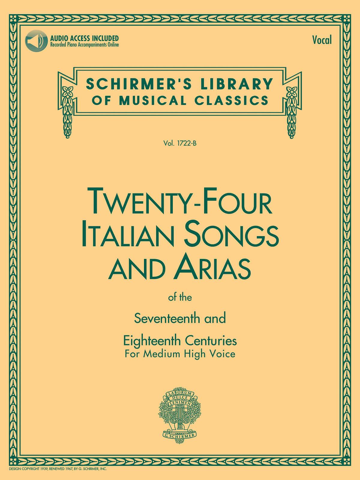 24 Italian Songs & Arias - Medium High Voice