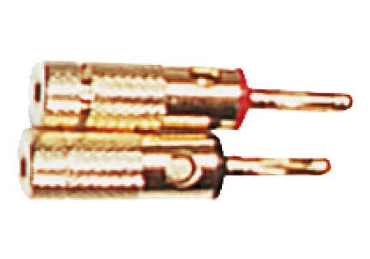 Conector Yellow Cables 2 Conectores De Tipo Banana