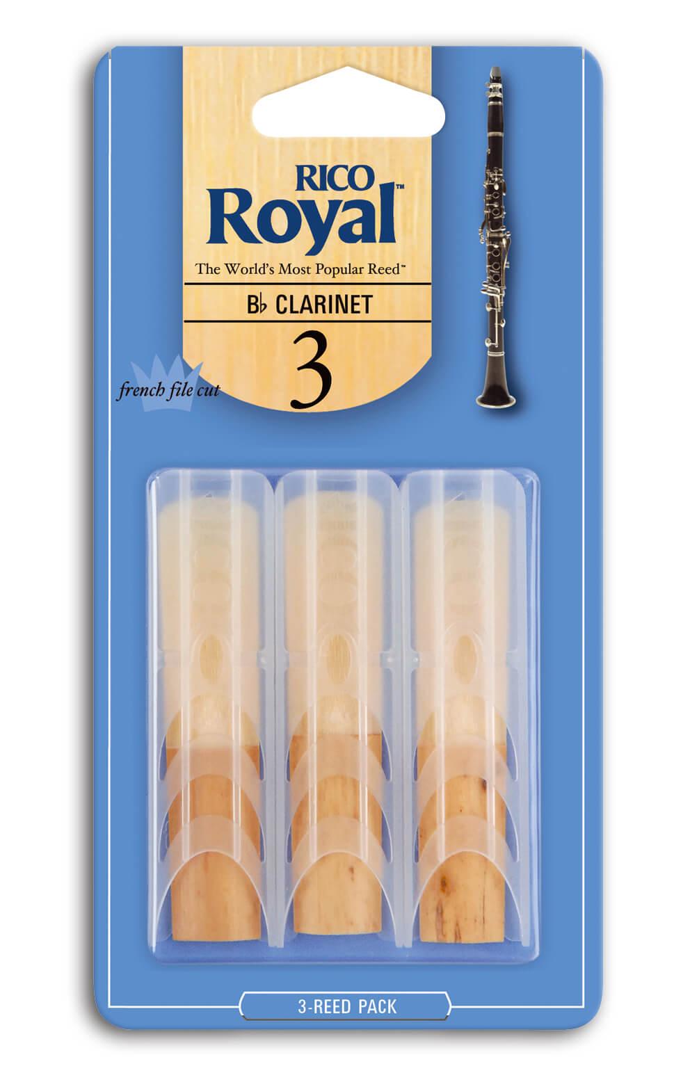 Pack 3 Cañas Clarinete Sib D'Addario Royal  Nº3