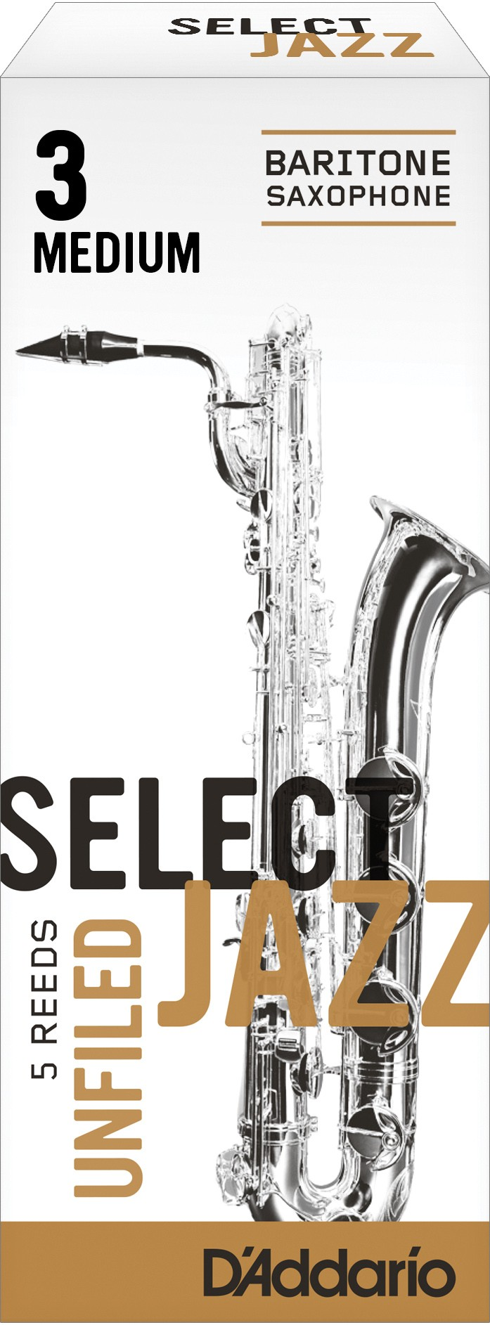 Caja Cañas Saxofón Barítono Select Jazz Unfiled 3M