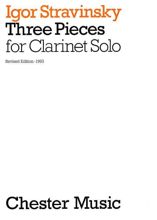 Three pieces for Clarinet Solo .Stravinsky