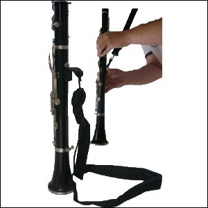 Cordon Clarinete N.2521 Gancho Metalico. Negro