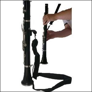 Cordon Clarinete N.2521-1 Mosqueton Metalico. Negro