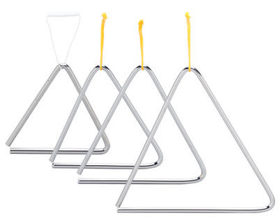 Triangulo Acero 16Cm C/ Golpeador Ref 01800
