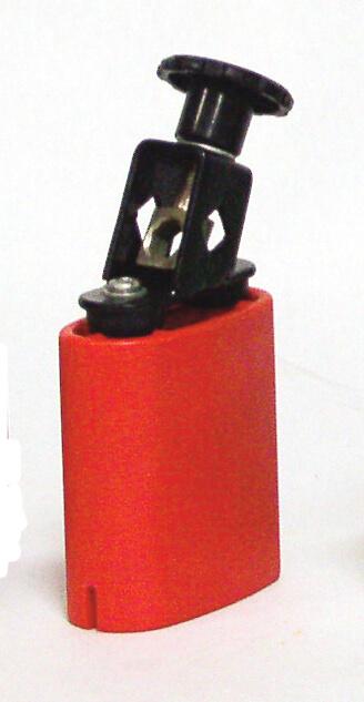 Temple Block Plastico Rojo Db0731 Circular 7X8X3.5. Rojo