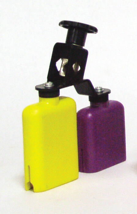 Temple Block Plastico Amarillo-Morado Db0733 Doble. Amarillo