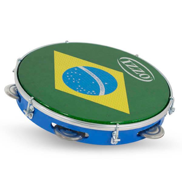 Pandeiro 10 Abs P/Brasil Izzo Iz3438. Azul