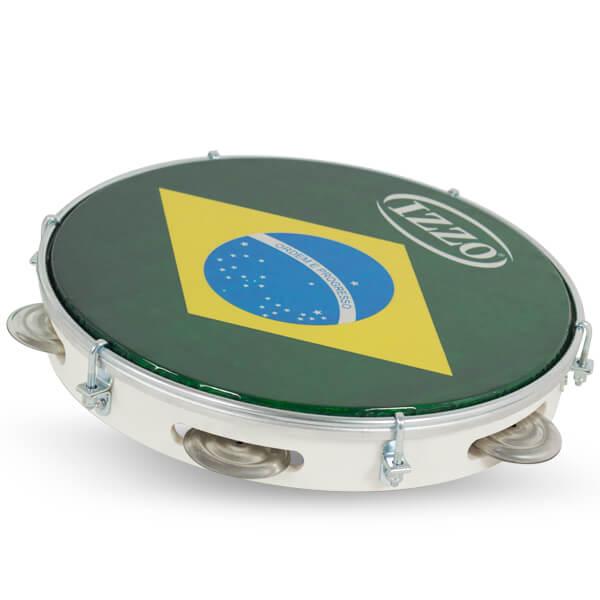 Pandeiro 10 Abs P/Brasil Izzo Iz3438. Blanco