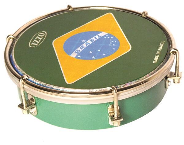 Tamborim   6 Madera P/Brasil Izzo Iz3456. Verde