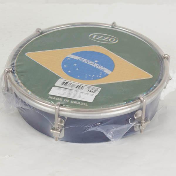 Tamborim   6 Madera P/Brasil Izzo Iz3456. Azul