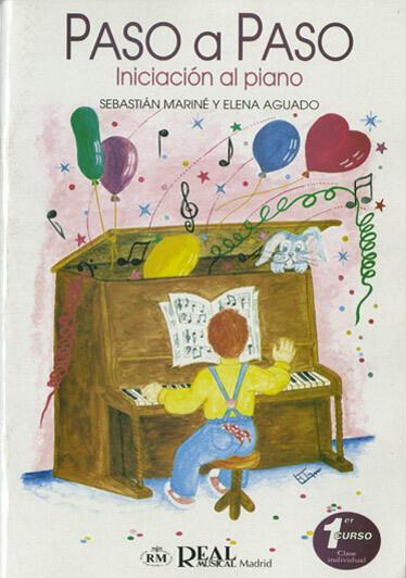 Paso a Paso, Iniciación al Piano, 1° Curso( Individual) Mariné/Aguado
