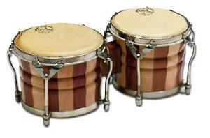 Bongo Profesional Samba 537 Nogal Parche Piel