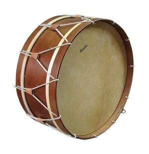 Bombo Tradicional Samba 9647 20 Nogal Parche Piel