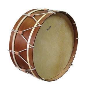 Bombo Tradicional Samba 9648 22X25Cm Nogal Parche Piel