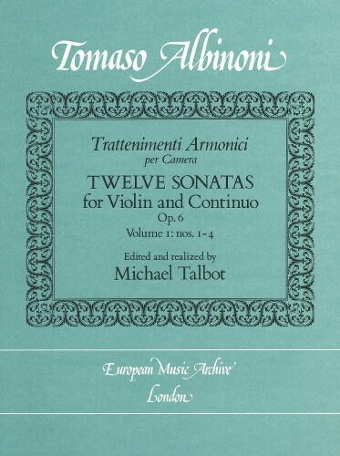 12 Sonatas For Violin And Continuo Vol. 1.Albinoni