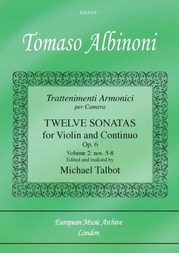 12 Sonatas For Violin And Continuo Vol. 2.Albinoni