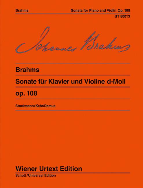 Sonata D Minor op. 108 violin-piano .Brahms