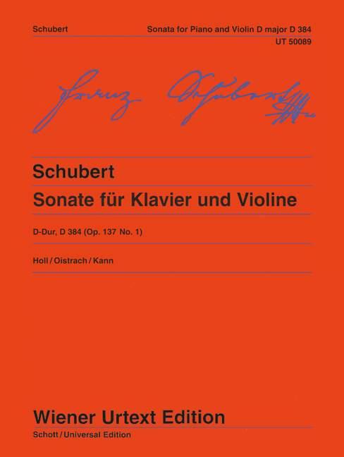 Sonata (Sonatina) D Major op. 137/1 D 384