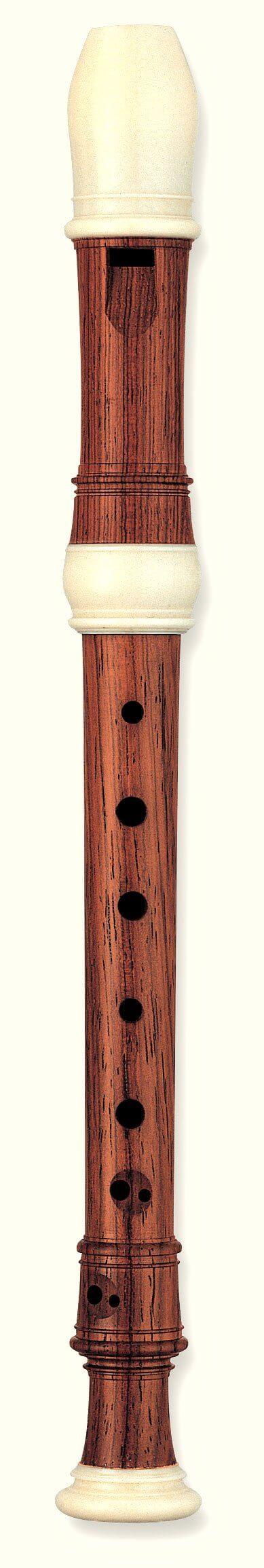 Flauta Sopranino Barroca En Fa Yamaha YRN-814 Palosanto