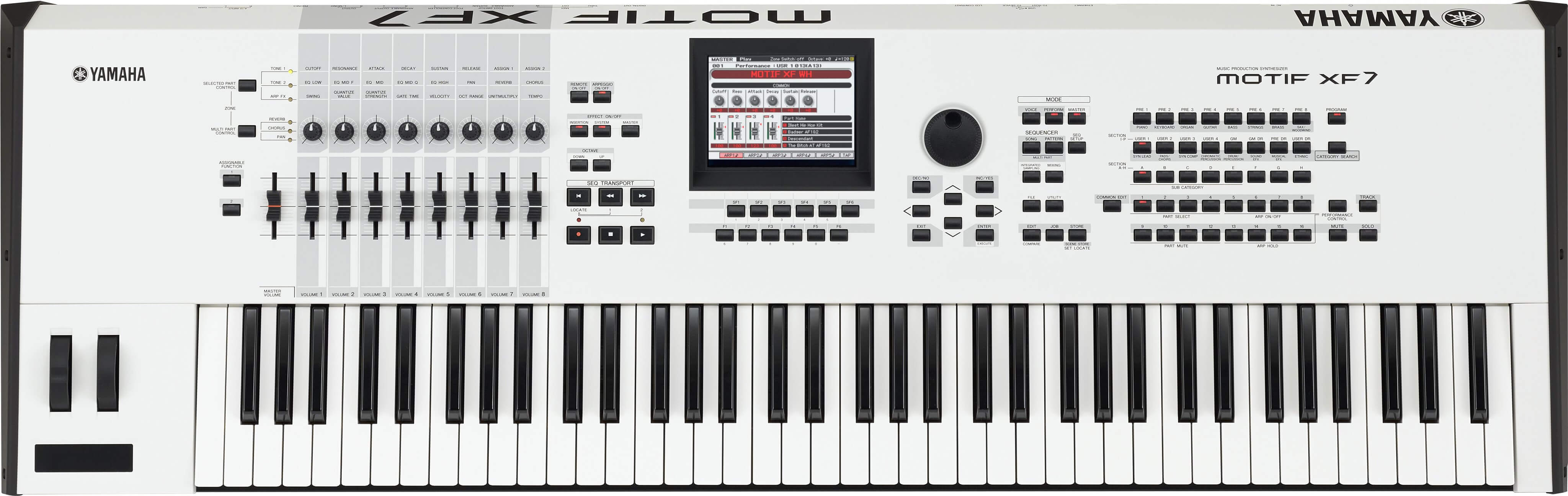 Sintetizador Yamaha Motif Xf7 Wh E
