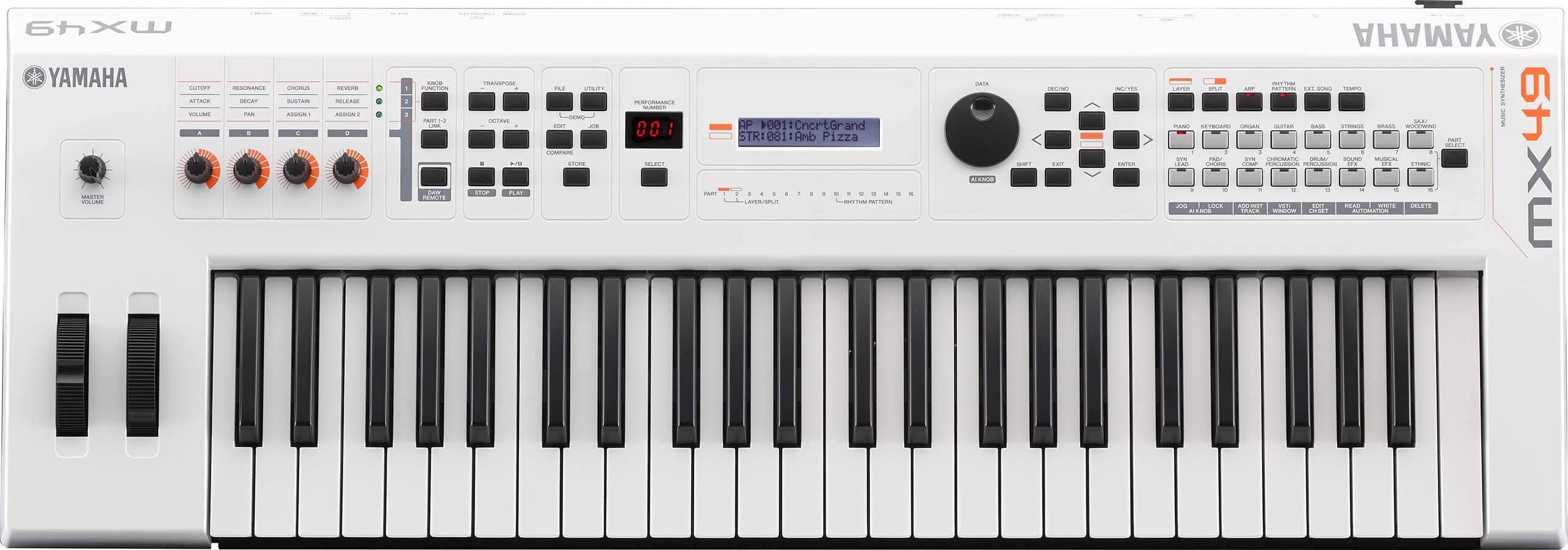 Sintetizador Yamaha Mx49II Wh White