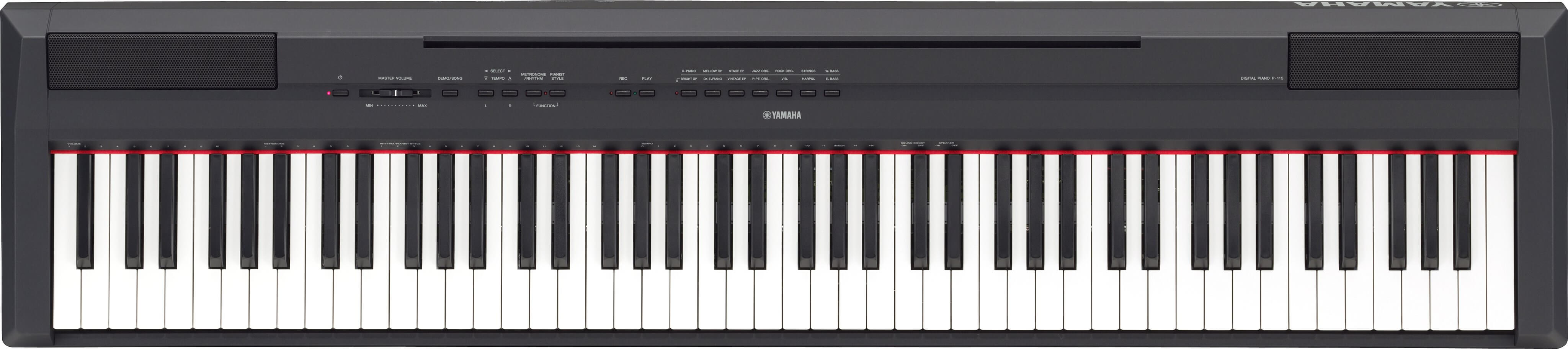 Piano Digital Yamaha P-115B Negro Mate