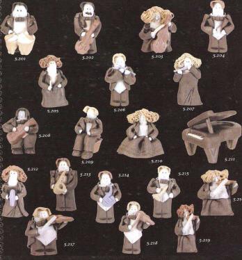 Figura Artesanal Libro Hombre Violinista