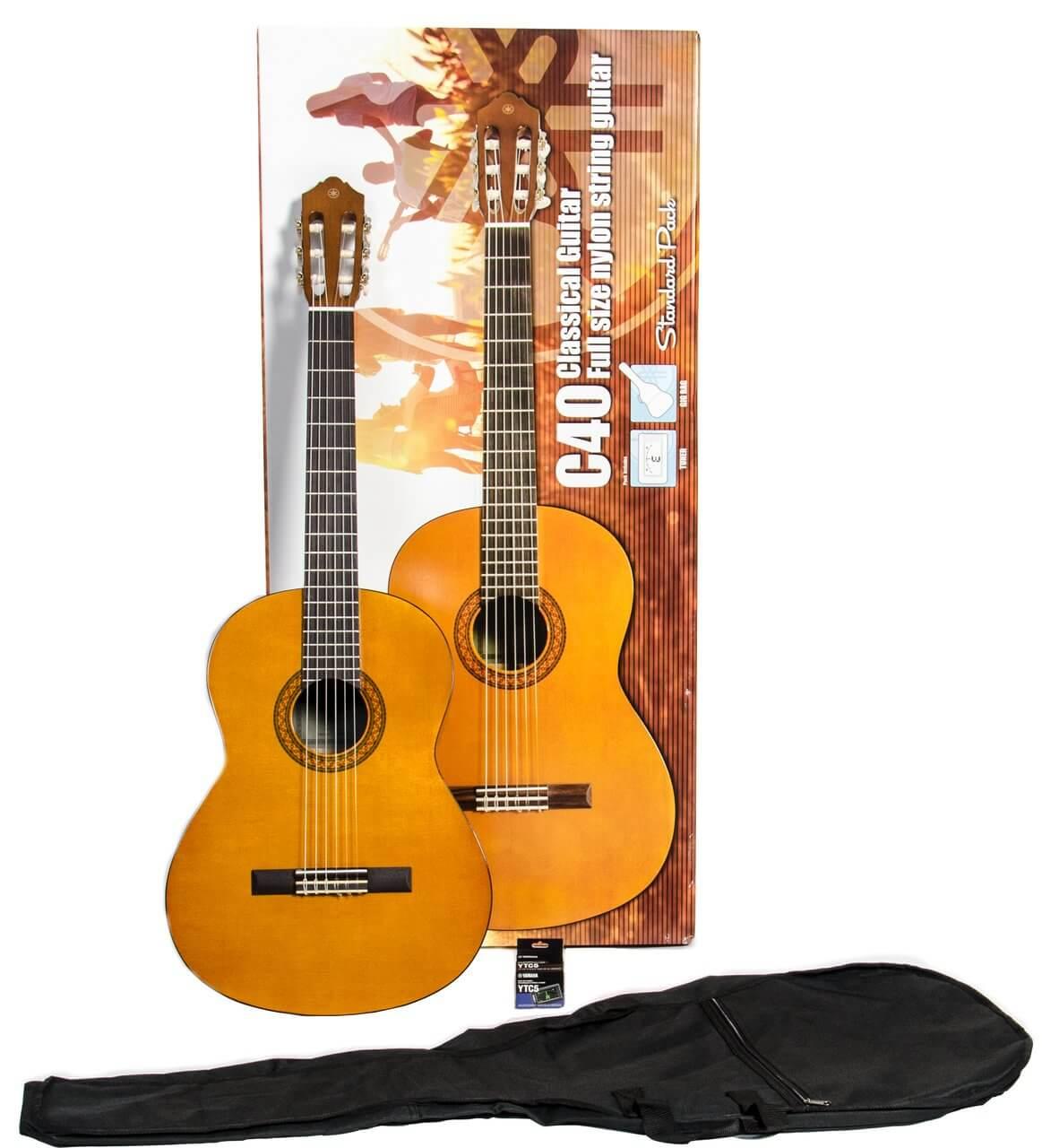 Pack Guitarra Clasica Yamaha C-40 +Funda+Afin