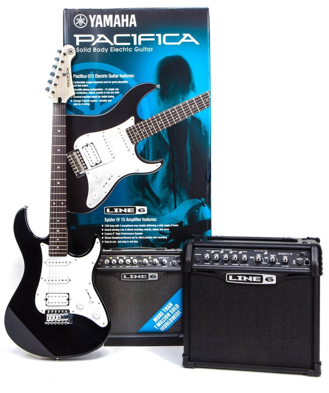 Pack Guitarra Eléctrica Line6 Pac 012 + Spider Black