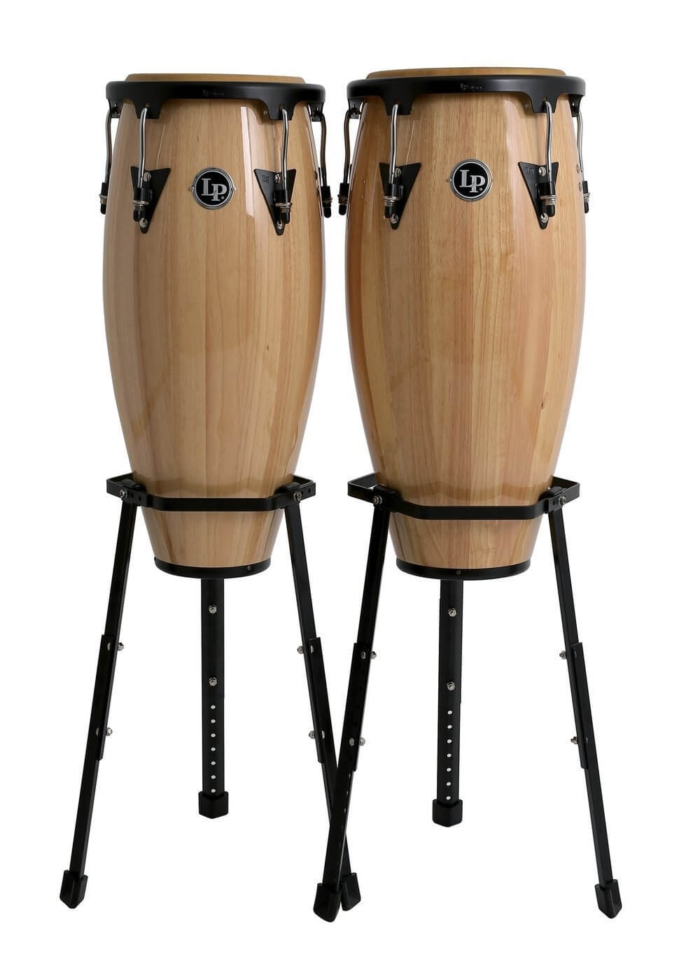 Set Congas Latin Percussion Lpa646B 10-11 Dark Wood