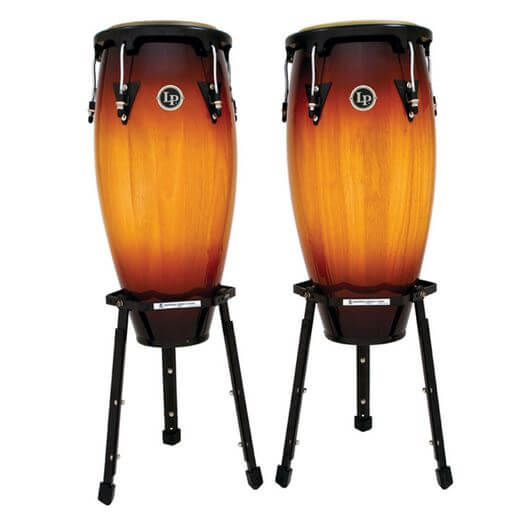 Set Congas Latin Percussion Lpa646B 10-11 Vintage Sunburst