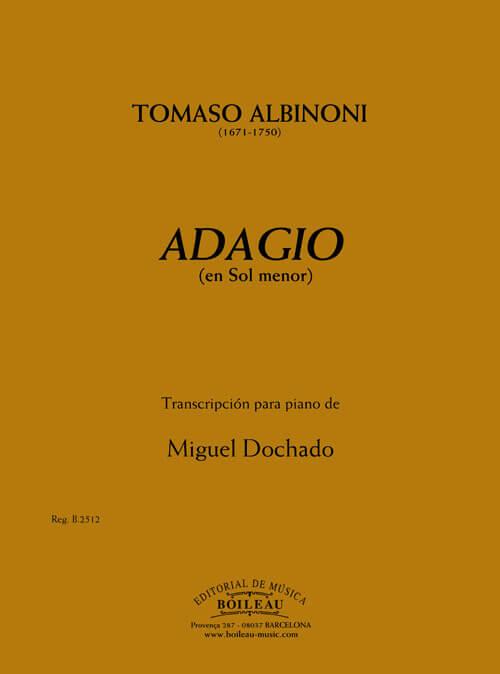 Adagio en Sol menor. Albinoni. Piano fácil