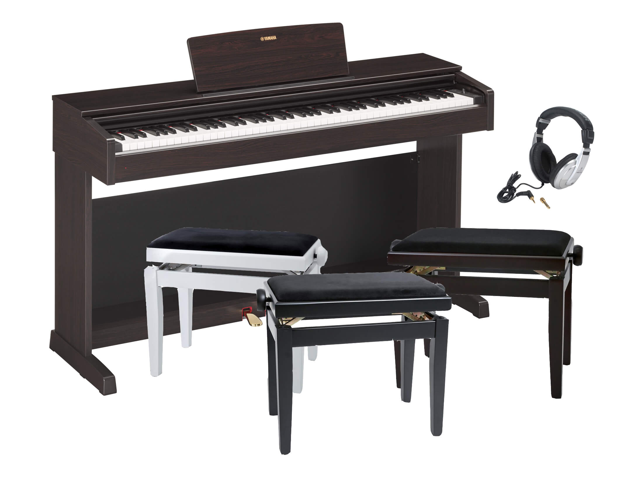 Pack Piano Digital Yamaha YDP-143 Con banqueta y auriculares