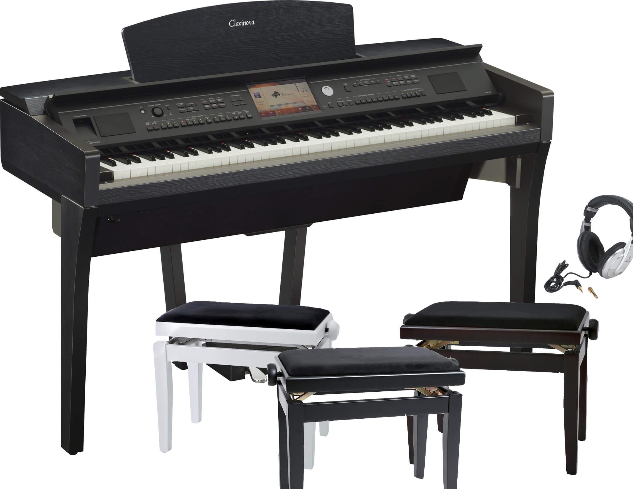 Pack Piano Digital Yamaha CVP-709 con banqueta y auriculares