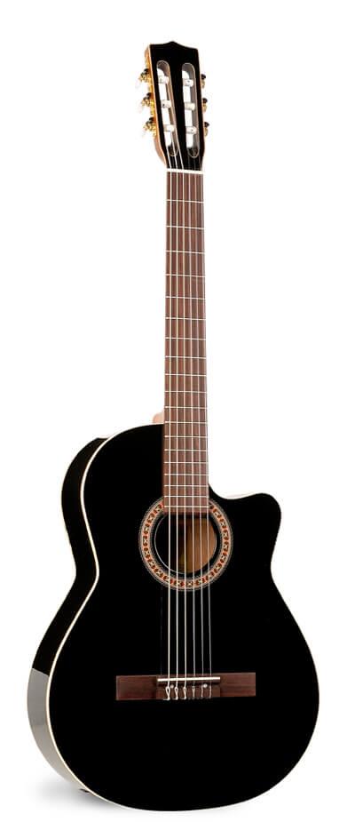Guitarra La Patrie Hybrid CW Black Bband Crescent with TRIC