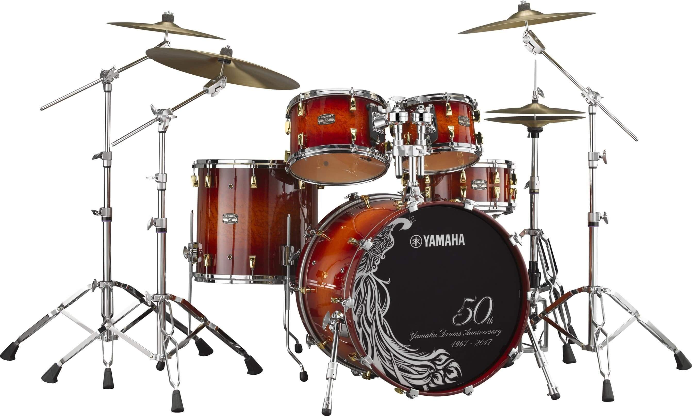 Batería Yamaha Absolute Maple Hybrid 50Bp6F3 Amber Sunburst