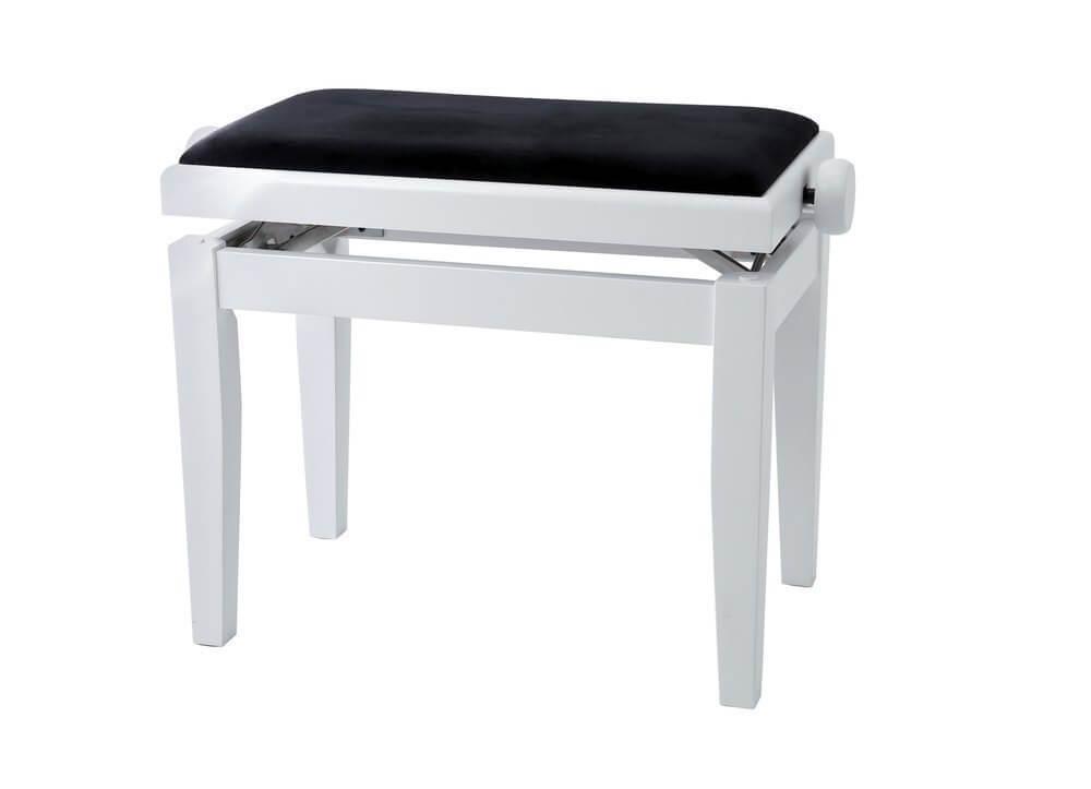 Banqueta Regulable Piano Gewa Blanco Mate