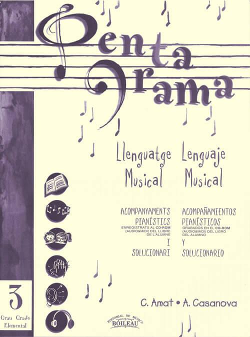 Pentagrama III Llenguatge/Lenguaje Acomp. Piano Elemental