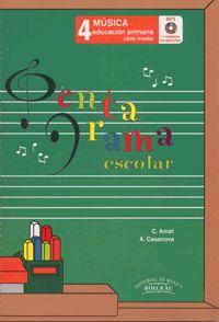 Pentagrama Escolar 4 - Castellano. Libro +CD