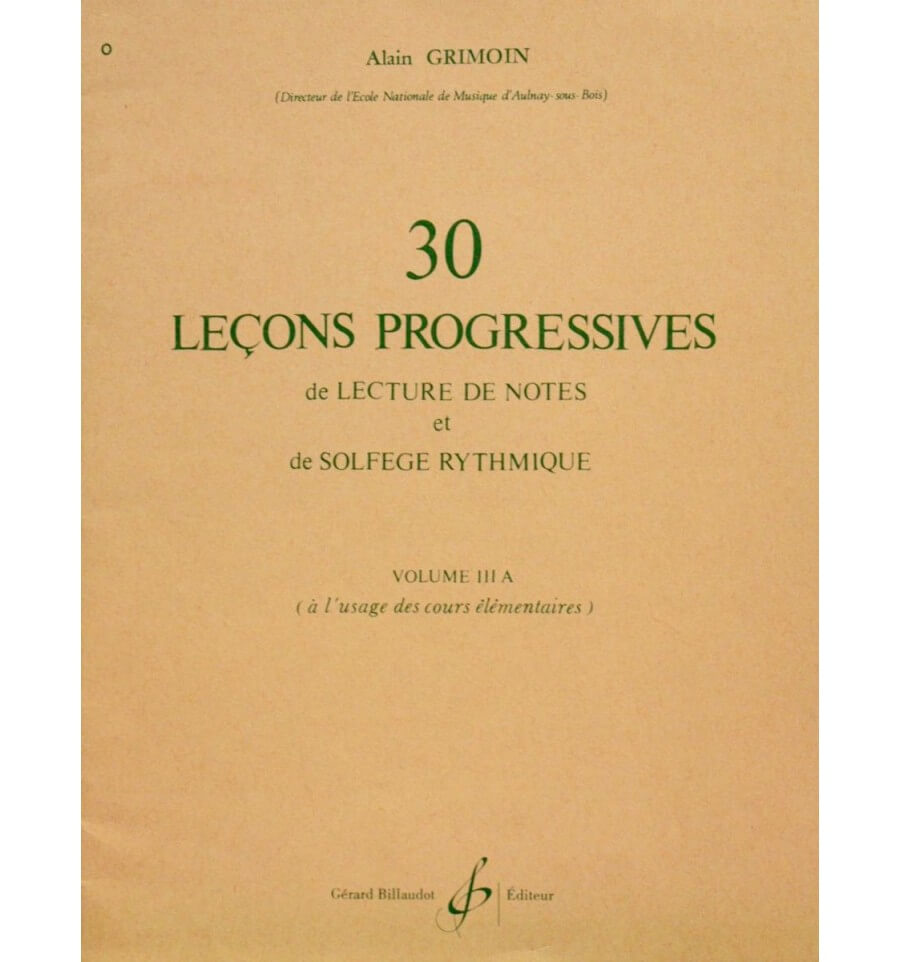 30 Lecons Progressives Vol. 3A